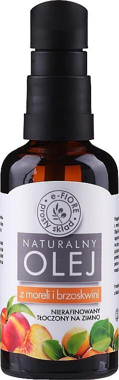 Huile de noyau d'abricot et pêche (avec distributeur) - E-Fiore Natural Oil
