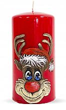Parfums et Produits cosmétiques Bougie décorative Rudolphe, rouge, 7x14cm - Artman Christmas Candle Rudolf