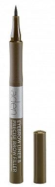 Marqueur sourcils - Aden Cosmetics Eyebrow Liner & Precise Brow Filler
