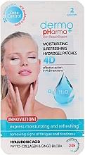 Parfums et Produits cosmétiques Patchs hydrogel à l'acide hyaluronique et phyto-collagène pour yeux - Dermo Pharma 4D Moisturizing & Refreshing Gel Patches