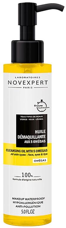 Huile démaquillante aux 5 omégas (avec serviette en coton) - Novexpert Cleansing Oil With 5 Omegas — Photo N1