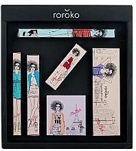 Parfums et Produits cosmétiques Roroko Color Muse Make-up Box (crayon sourcils/0.4g + fards à paupières/8g + eyeliner/0.8g + blush/6g + mascara/8g + rouge à lèvres/3.5g) - Kit maquillage