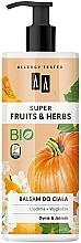 Parfums et Produits cosmétiques Lotion raffermissante bio pour corps, Citrouille et Jasmin - AA Super Fruits & Herbs