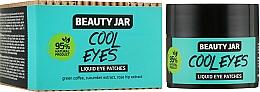 Parfums et Produits cosmétiques Patchs liquides au café vert et extrait de concombre pour contour des yeux - Beauty Jar Liquid Eye Patches