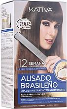 Parfums et Produits cosmétiques Kativa Alisado Brasileno Straighten Brunette - Kit de lissage pour cheveux bruns