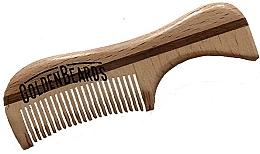 Parfums et Produits cosmétiques Peigne à barbe en bois écologique, 9,5 cm - Golden Beards Eco Moustache Comb