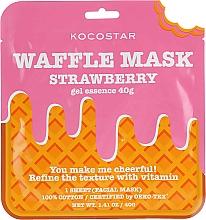 Parfums et Produits cosmétiques Masque tissu à l'extrait de fraise pour visage - Kocostar Strawberry Waffle Mask