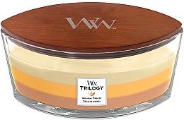 Parfums et Produits cosmétiques Bougie parfumé ellipse avec mèche en bois, Délices dorés - WoodWick Golden Treats Ellipse Candle