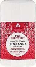 Parfums et Produits cosmétiques Déodorant stick naturel au bicarbonate de soude Pamplemousse rose - Ben & Anna Natural Soda Deodorant Pink Grapefruit