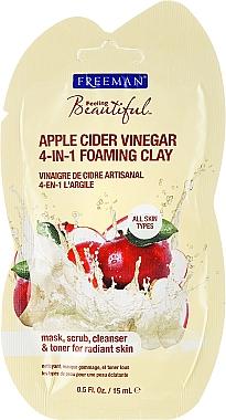 Masque éclaircissant en vinaigre de cidre pour visage - Freeman Feeling Beautiful 4-in-1 Apple Cider Vinegar Foaming Clay (mini) — Photo N1