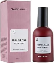 Parfums et Produits cosmétiques Sérum visage anti-rides régénérant et éclaircissant - Thank You Farmer Miracle Age Serum