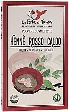 Parfums et Produits cosmétiques Henné naturel en poudre , rouge ardent - Le Erbe di Janas Red Henna Hot Shades