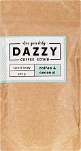 Parfums et Produits cosmétiques Gommage au café et coco pour visage et corps - Dazzy Coffee Face & Body Scrub Coffee & Cocos