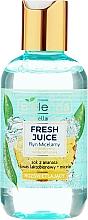 Parfums et Produits cosmétiques Bielenda Fresh Juice Micellar Water Pineapple - Eau micellaire éclaircissante à l'eau d'agrumes bioactive et jus d'ananas