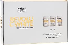 Parfums et Produits cosmétiques Farmona Professional Revolu C White Set - Coffret(concentré/10x5ml + masque-base/10x12ml + masque-activateur/10x2g)