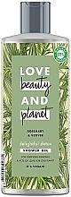 Parfums et Produits cosmétiques Gel douche à l'extrait de romarin - Love Beauty&Planet Delightful Detox Rosemary & Vetiver Shower Gel