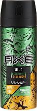 Parfums et Produits cosmétiques Déodorant spray, Mojito et Bois de Cèdre - Axe Wild Green Mojito & Cedarwood