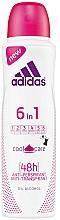 Parfums et Produits cosmétiques Spray anti-transpirant 48h - Adidas Anti-Perspirant 6 in 1 Cool&Care 48h
