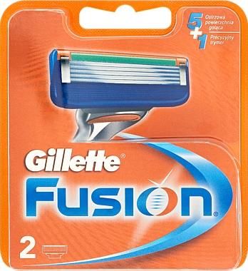 Lames de rechange pour rasoir, 2 pcs - Gillette Fusion