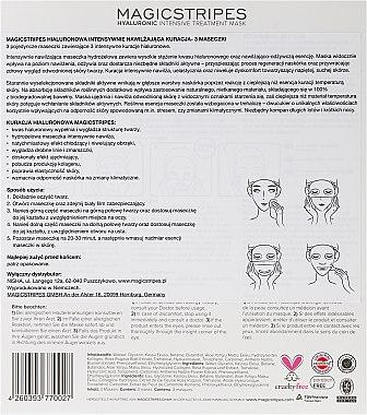 Masque hydrogel intense à l'acide hyaluronique - Magicstripes Hyaluronic Intensive Treatment Mask — Photo N4