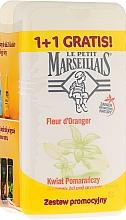 Parfums et Produits cosmétiques Lot de 2 douche crème Fleur d'oranger - Le Petit Marseillais (douche crème/2x 250ml)