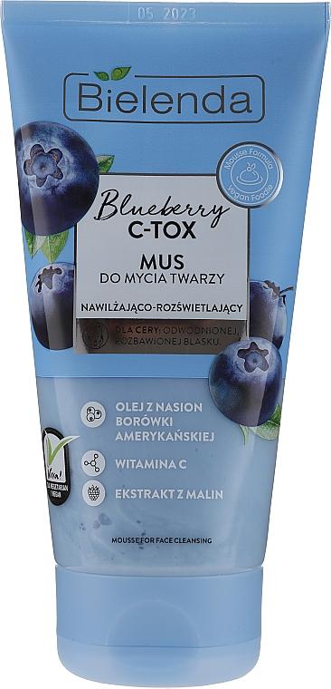 Mousse nettoyante à l'huile de myrtille pour visage - Bielenda Blueberry C-Tox Face Mousse For Face Cleansing