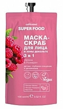 Parfums et Produits cosmétiques Masque-peeling à la framboise et romarin pour visage et décolleté - Cafe Mimi Super Food