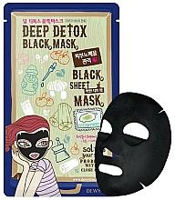 Parfums et Produits cosmétiques Masque tissu aux cendres volcaniques pour visage - Dewytree Deep Detox Black Sheet Mask