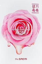 Parfums et Produits cosmétiques Masque tissu à l'extrait de rose pour visage - The Saem Natural Rose Mask Sheet