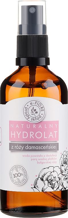 Hydrolat de rose de Damas - E-Fiore Hydrolat