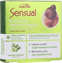 Parfums et Produits cosmétiques Bandes de cire à l'extrait de thé vert pour visage - Joanna Sensual Depilatory Face Strips With Green Tea Extract