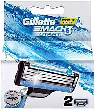 Parfums et Produits cosmétiques Lames de rechange pour rasoir, 2pcs - Gillette Mach3 Start