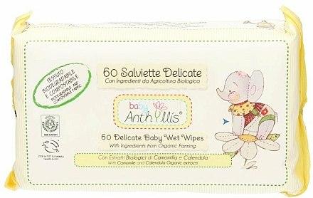 Lingettes nettoyantes à la camomille et calendula pour bébé, 60 pcs - Anthyllis Cleansing Wipes — Photo N1