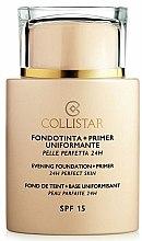 Parfums et Produits cosmétiques Fond de teint et base uniformisant - Collistar Foundation Primer Perfect Skin Smoothing 24H SPF15