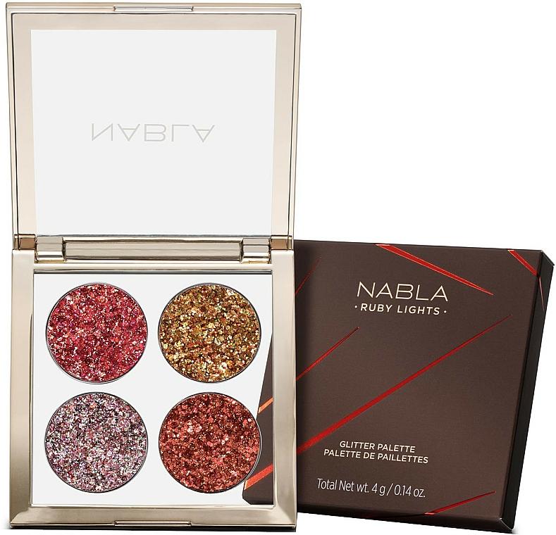 Palette de fards à paupières - Nabla Ruby Lights Collection Glitter Palette
