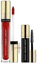 Parfums et Produits cosmétiques Set (rouge à lèvres / 5ml + mascara / 6ml) - Collistar Fluido Unico, 12-Granatina Mat -