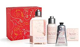 Parfums et Produits cosmétiques Coffret cadeau - L'Occitane Cherry Blossom (sh/gel/250ml + b/lot/75ml + soap/50g + h/cr/75ml)