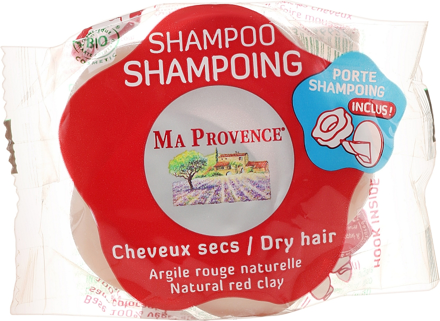 Shampooing solide à l'argile rouge naturelle - Ma Provence Shampoo