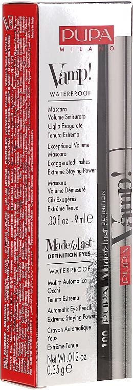 Set (Mascara/9ml + crayon yeux/0,35g) - Pupa Vamp! Mascara Waterproof & Made To Last Definition Eyes — Photo N1