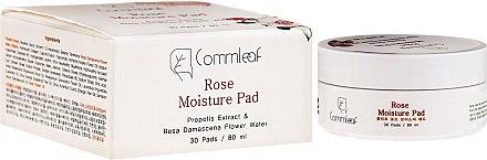 Disques hydratants visage , 30 pcs - Commleaf Rose Moisture Pad