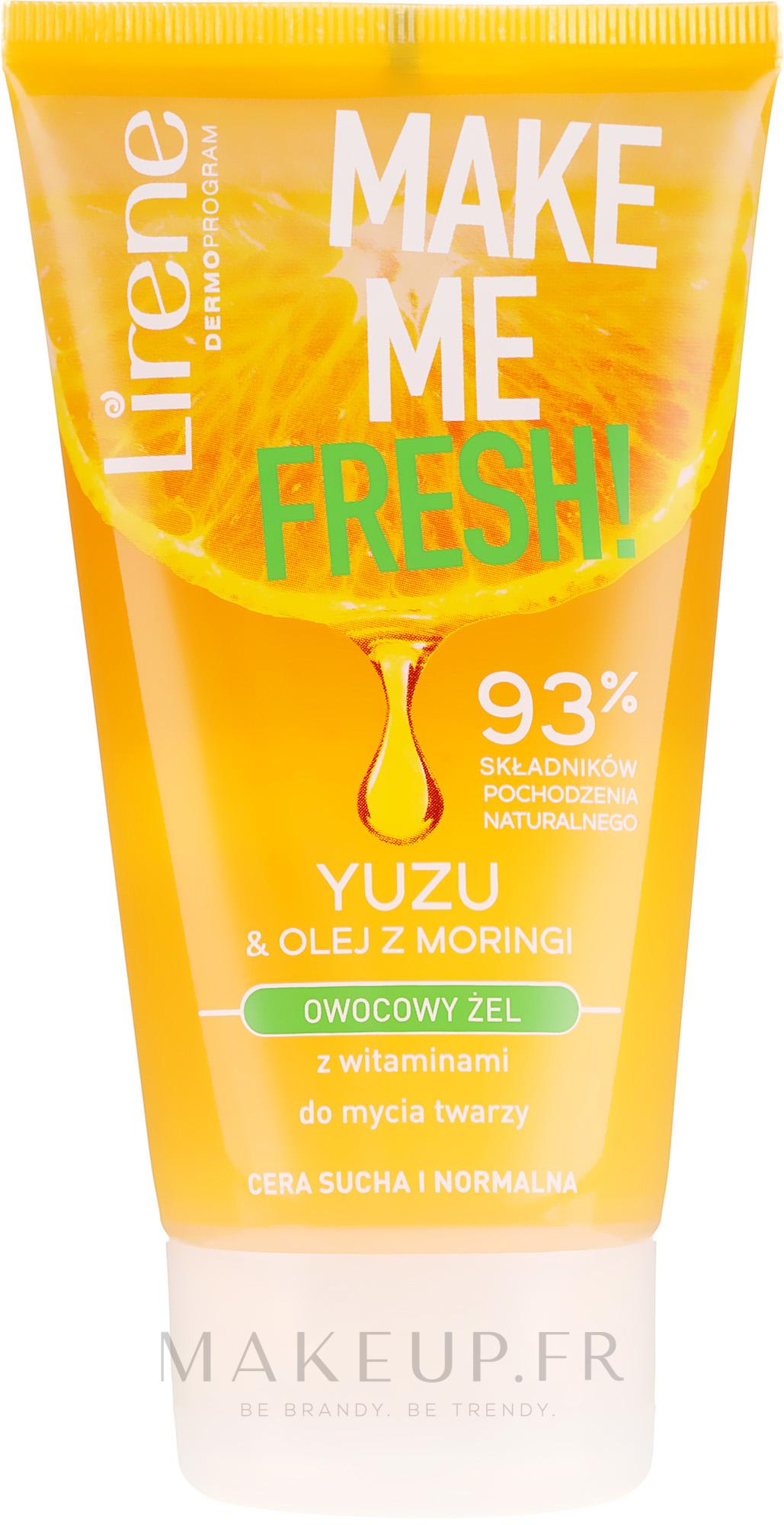 Gel nettoyant à l'huile de moringa pour visage - Lirene Make Me Clean! Fresh Vegetable Gel — Photo 150 ml