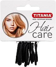 Parfums et Produits cosmétiques Élastiques à cheveux, 12 pcs, noir, 2 mm - Titania