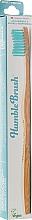 Parfums et Produits cosmétiques Brosse à dents en bambou, moyenne, bleue - The Humble Co.