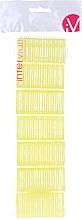 Parfums et Produits cosmétiques Lot de 7 bigoudis velcro, 499597, jaune - Inter-Vion