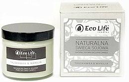 Parfums et Produits cosmétiques Bougie parfumée en cire de soja naturelle , Fraise et vanille - Eco Life Candles