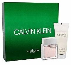 Parfums et Produits cosmétiques Calvin Klein Euphoria Men - Coffret cadeau (eau de toilette/50ml + gel moussant pour corps/100ml)