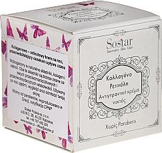 Parfums et Produits cosmétiques Crème de nuit au collagène et rétinol - Sostar Collagen Retinol Anti-Wrinkle Night Cream