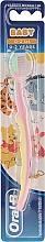 Parfums et Produits cosmétiques Brosse à dents pour enfants, ultra souple, rose et jaune - Oral-B Baby