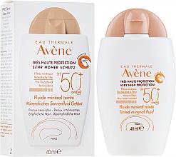 Parfums et Produits cosmétiques Fluide minéral teinté pour visage - Avene Eau Thermale Tinted Mineral Fluid SPF 50+