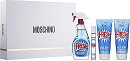 Parfums et Produits cosmétiques Moschino Fresh Couture - Coffret (eau de toilette/100ml + eau de toilette mini/10ml + lotion corporelle/100ml + gel bain et douche/100ml)